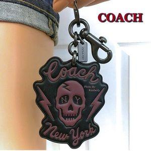 Coach Skull Keychain Black Bag Backpack Charm NWT